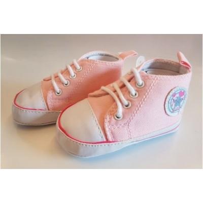 Babyschoentjes La petit Couronne (roze)