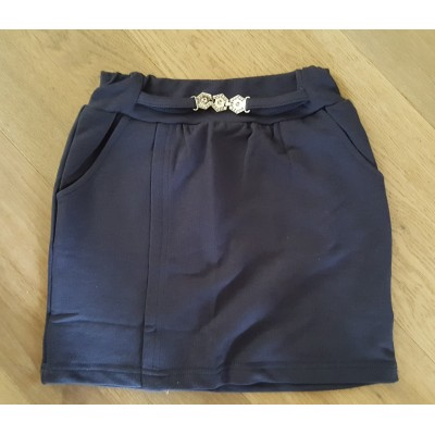 Zero rok met steentjes (blauw)