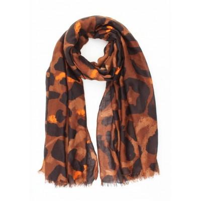 Sjaal Big Leopard Bruin