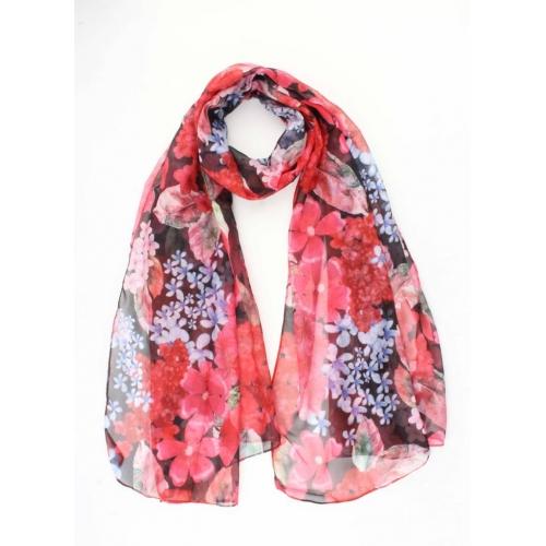 Sjaal Rode Bloemen