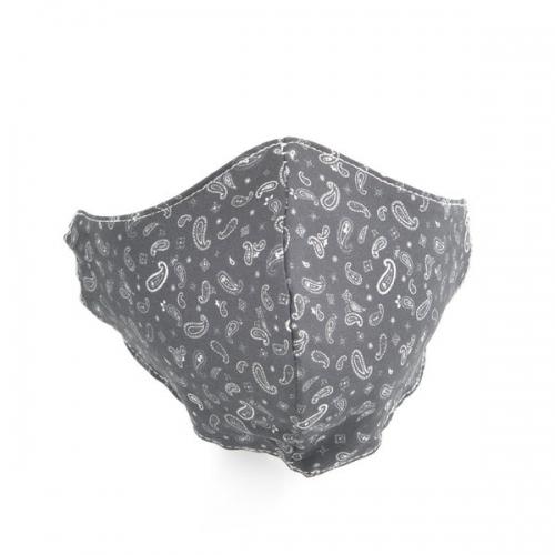 Mondkapje | Paisley zwart/wit