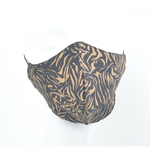 Mondkapje   Zebra bruin/zwart