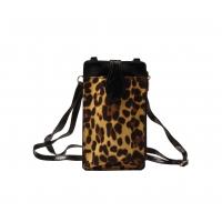 Telefoontasje met hengsel - Geel Leopard