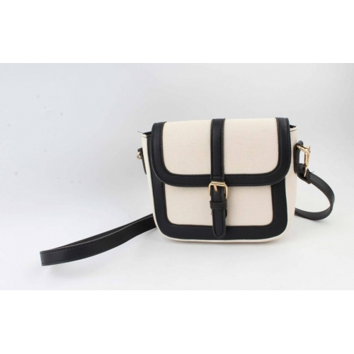 Crossbody Noah (wit canvas/zwart)