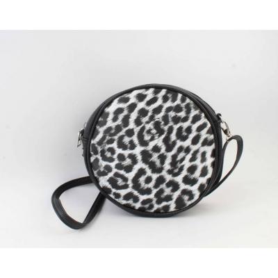 Crossbody Lina - Luipaardprint zwart/wit