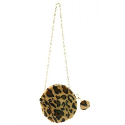 Crossbody Fluffy bont Leopard