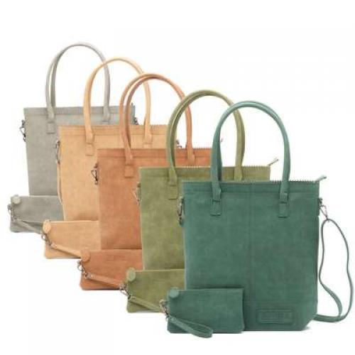 ZEBRA tas - Natural Bag kartel met rits