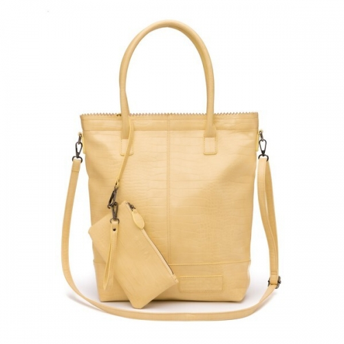 ZEBRA tas - Natural Bag Kartel met rits - Licht Geel