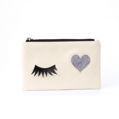 ZEBRA - Etui / toilettas Lashes - White