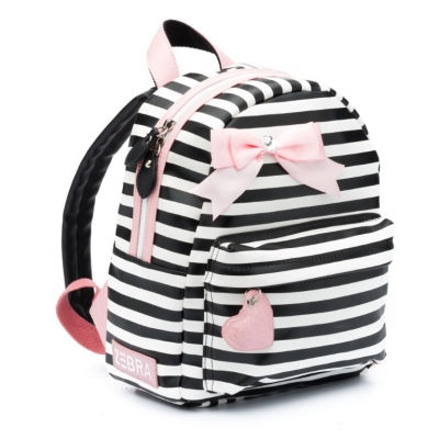 ZEBRA Rugzak Girls (S) - Stripes Pink