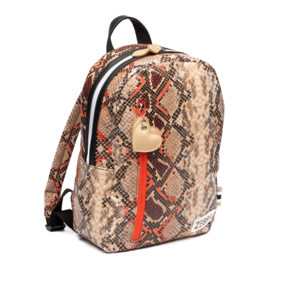 ZEBRA tas (M) Wild/Snake Orange/Red