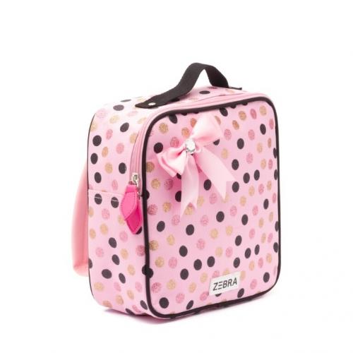 ZEBRA - Rugzakje Wild Dots - Pink met strik