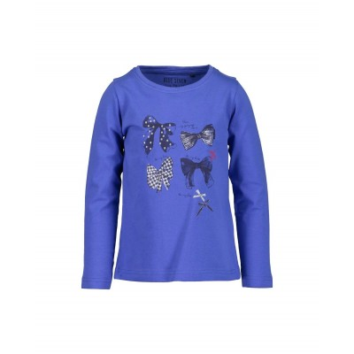 Blue Seven long sleeve blauw strik