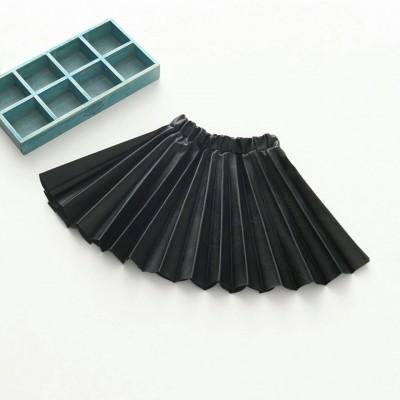 Leren plooirokje (zwart)