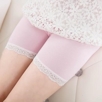 Legging met kant (roze)