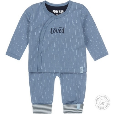 Dirkje bio cotton - set lichtblauw