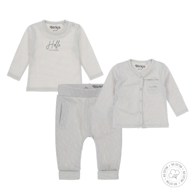 Dirkje bio cotton - 3-delig set (light grey)