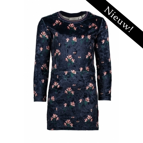 Bampidano - Velvet jurk met bloemenprint