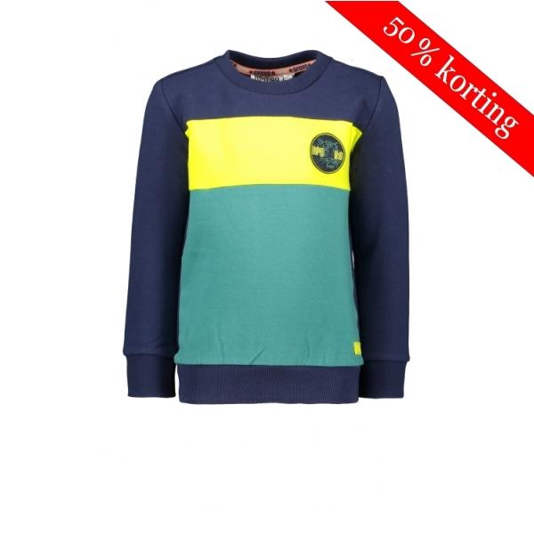 Bampidano - Sweater Geel/Mintgroen