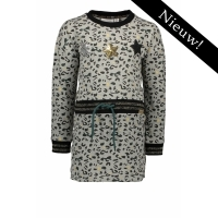 Bampidano - Jurk allover leopard print - grijs