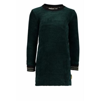 Bampidano - Diepgroene velvet jurk