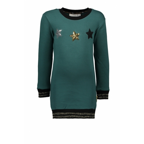 Bampidano - Diepgroene jurk met sterren