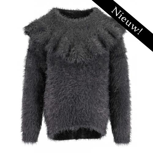 Blue Seven - Pluche pullover (grijs)