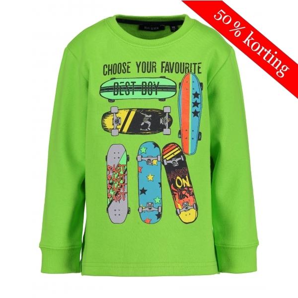 Blue Seven - Sweater Skateboard (groen)