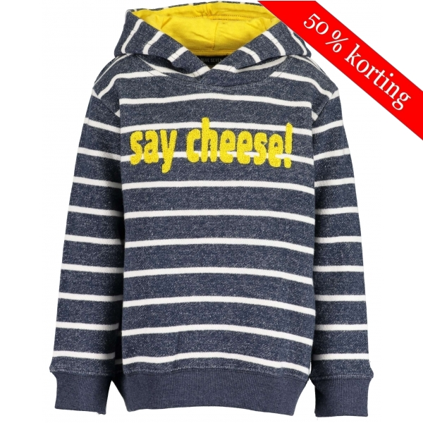 Blue Seven - Sweater say cheese met capuchon