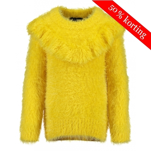 Blue Seven - Pluche pullover (geel)