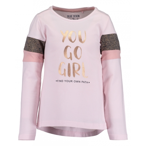 Blue Seven - Longsleeve you go girl (roze)