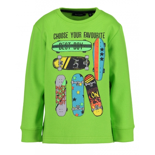 Blue Seven - Sweater Skateboard (groen)