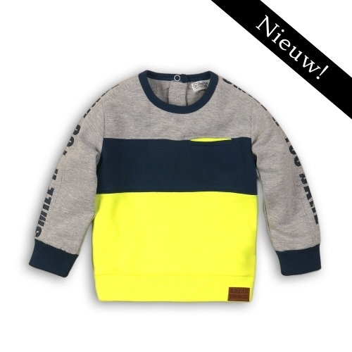 Dirkje - sweater geel/blauw