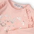 Dirkje - roze t-shirt met roezels