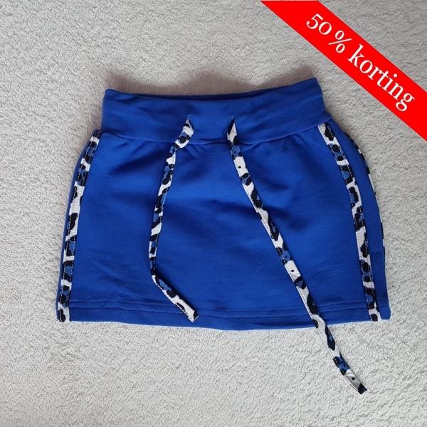 Zero rok met panter streep - blauw