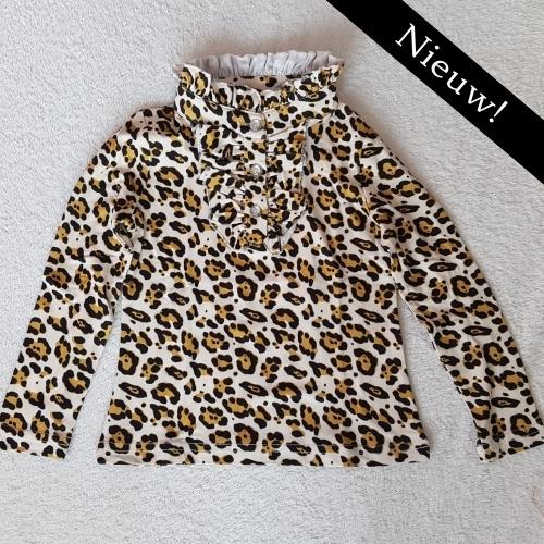 Zero T-shirt panterprint - camel