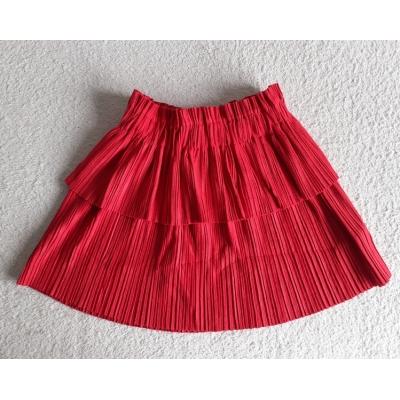 Zero plisse rok - rood