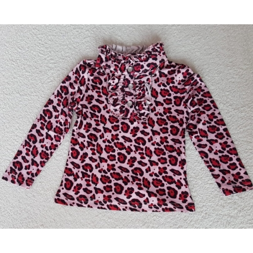 Zero T-shirt panterprint - rood