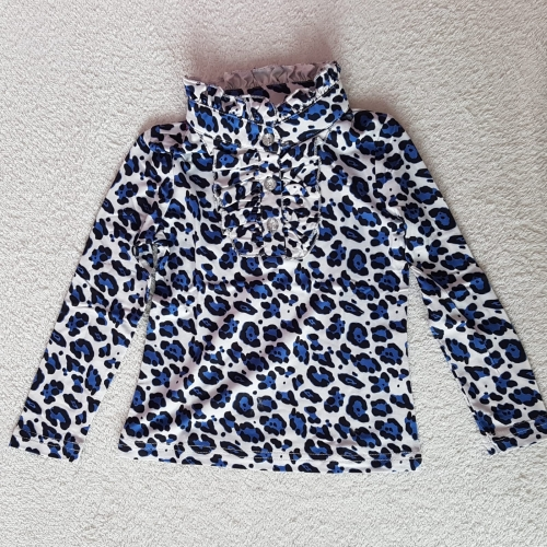 Zero T-shirt panterprint - blauw