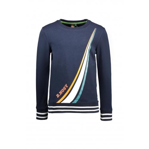B.Nosy | Sweater met streep - Blauw