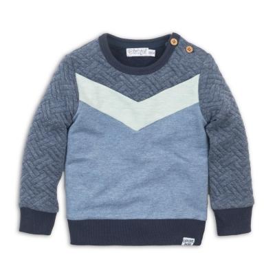 Dirkje – Sweater blauw met zachtgroen