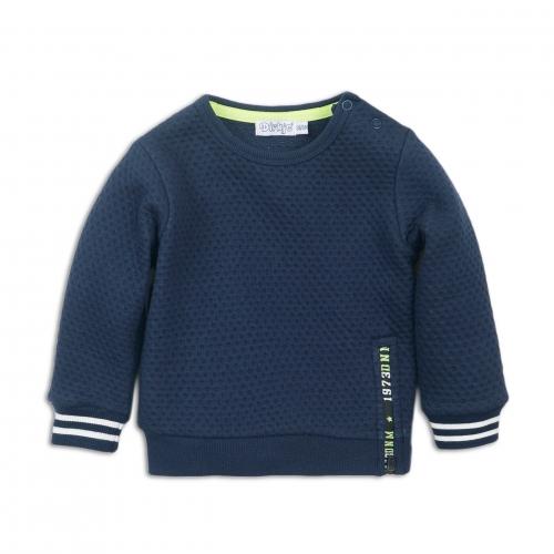 Dirkje - Sweater blauw met geel