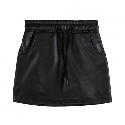 Vinrose - Zwarte rok van imitatie leer