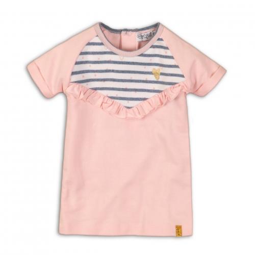 Dirkje - Jurkje roze met blauwe streepjes