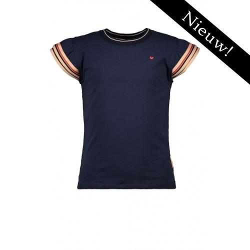 Bampidano -- T-shirt navy met strepen