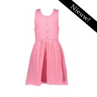 Bampidano -- Broderie jurkje met gekruiste bandjes (roze)