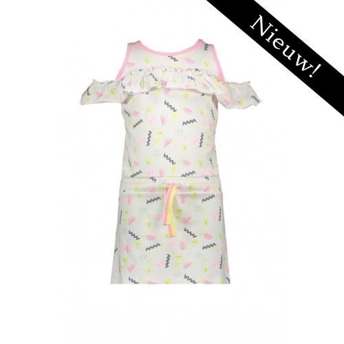 Bampidano -- Mouwloze jurk met print