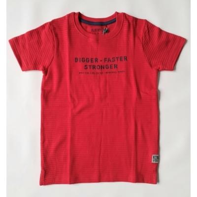 Blue Seven - T-shirt Bigger-Faster-Stronger (rood)