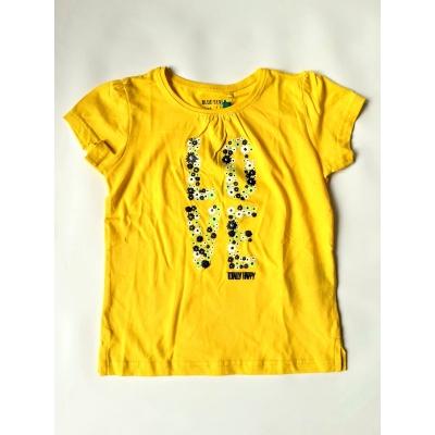 Blue Seven - T-shirt love (geel)