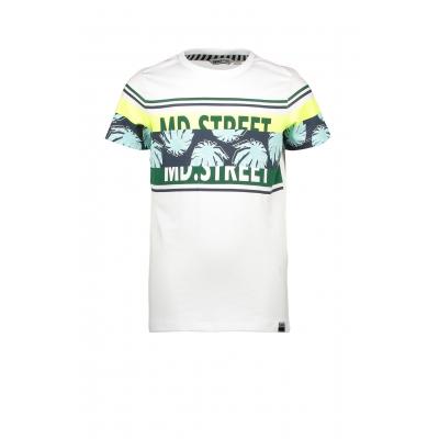Moodstreet T-shirt wit/groen
